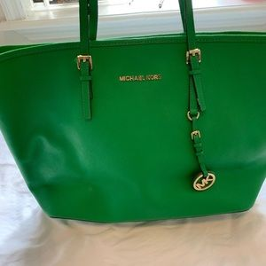 Michael Kors Green Jet Set Tote